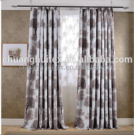 100% Polyester Printed Ready Made Blackout Curtains