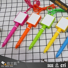 Wholesale funny bank office stationery 0.7 mm silicone counter ballpoint pen with pendant