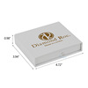 white clamshell book custom business card box