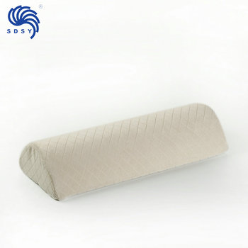Non Slip Cover Medical long half round neck pillow