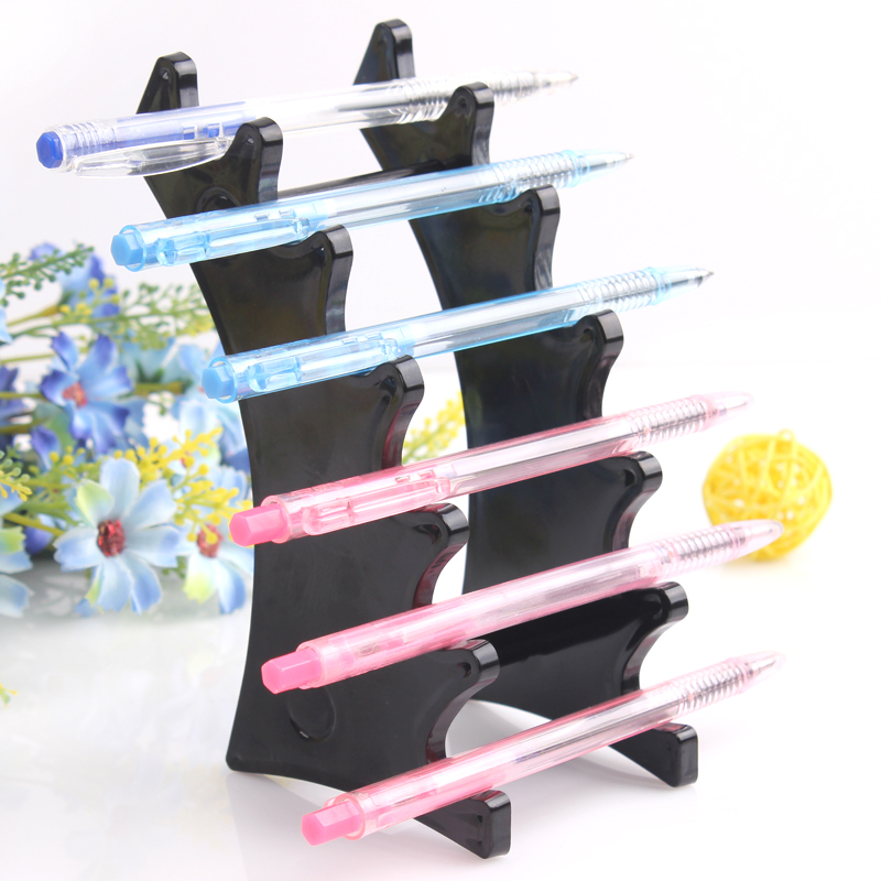 Whole-sale pen display stand holder rock Organizer for 6pcs pen eyebrow pencil display pen box case FREE SHIPPING