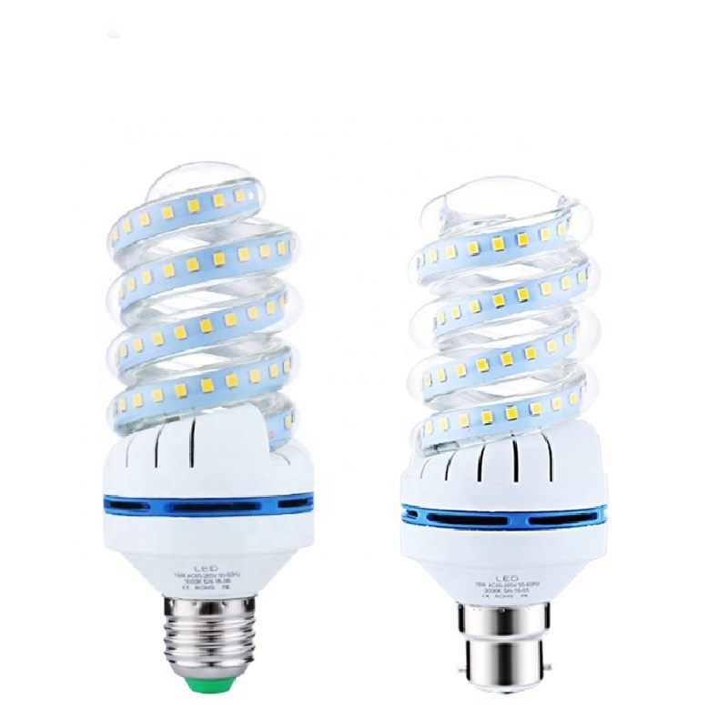 Factory price 9W 12W 16W 20W 24W e27 b22 <strong>Spiral</strong> Led Saving Energy <strong>Lamp</strong> bulb led corn light ac 100-300v Led Bulb Light