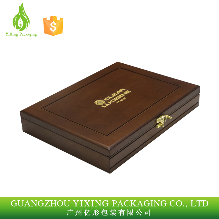 High-end Wooden Coin Display Boxes Wood Medal Award Gift Box Storage Box