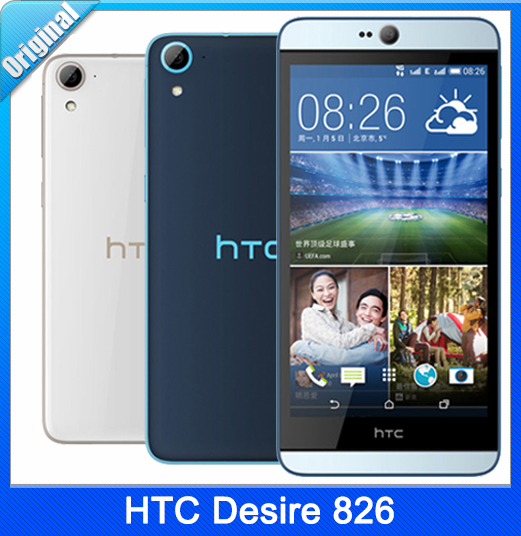 HTC Desire 826 Original Unlocked Mobile Phone 13MP Camera Quad-Core Android  5 0 OS Dual SIM LTE Network Cell Phone Free Shipping