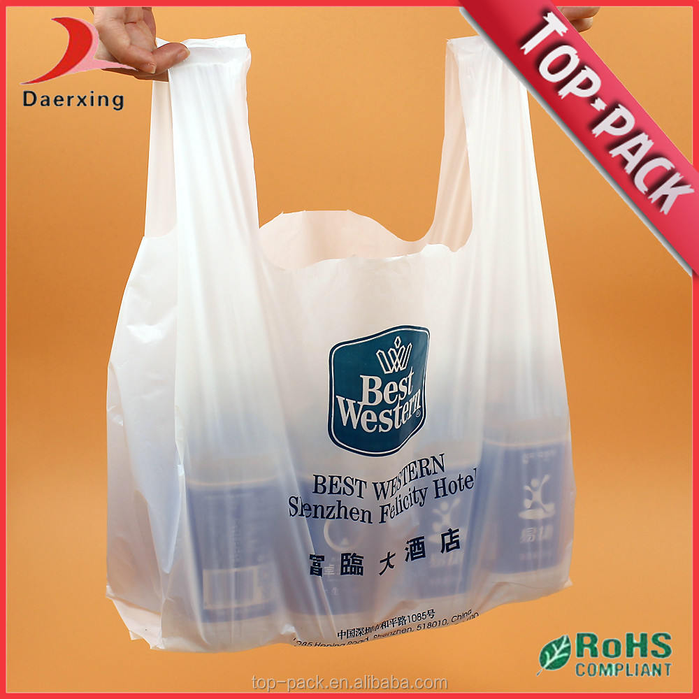 manufacturer cheap custom printed plastic t shirt bags