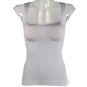 Ladies' white seamless vest body-shaping garment with chest cushion and waist tuck in slim body-shaping vest