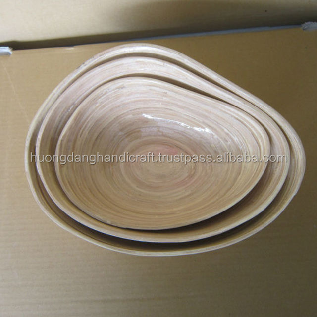 White Organic Bamboo Bowl- Vietnamese handicrafts with traditional produce Method