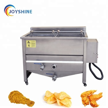 Commercial oil water separation induction deep fryer