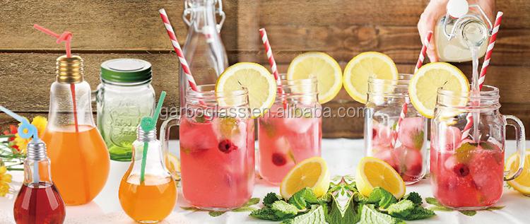Attraktive 500ml Glasflasche klare Flasche Glaswasserflasche mit Garbo Glassware Manufacturer