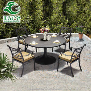 Astounding China Manufacturer 4Pc Cast Aluminum Garden Chairs Download Free Architecture Designs Scobabritishbridgeorg