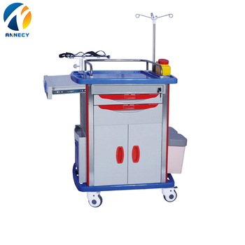 AC-ET009 emergency trolley for patient hospital medical trolley for treatment use