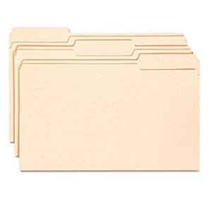 Smead : Antimicrobial Reinforced File Folders, 1/3 Cut, Top Tab, Legal, Manila, 100/Bx -:- Sold as 2 Packs of - 100 - / - Total of 200 Each