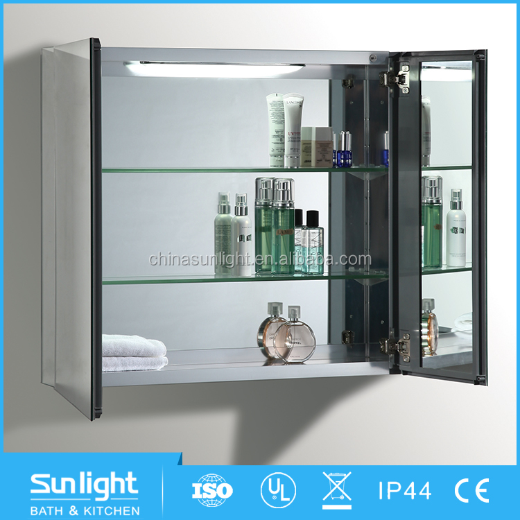 Best Selling Corner Wooden LED Jewelry Bathroom Mirror Cabinet