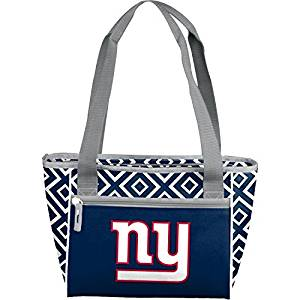 Logo NFL New York Giants 16-Can Cooler Tote with Two Carrying Straps, Leak-Proof Liner