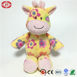 Party happy gift quality fancy plush stuffed giraffe kids toy