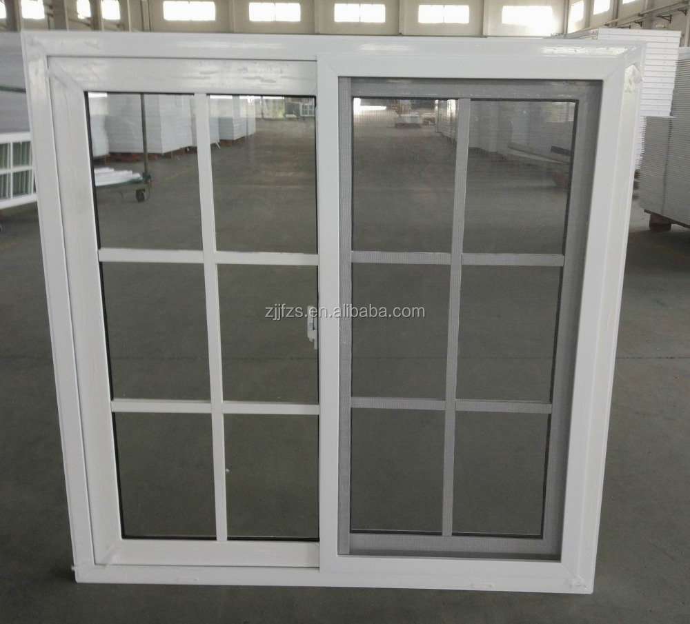 PVC profile window price, sliding window with mosquito net, cheap house windows for sale