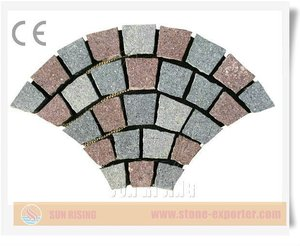 Fan shaped Net stick Porphyry paving stone