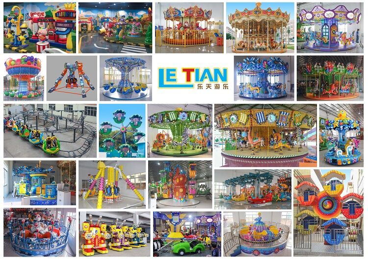 Large Indoor Playground Equipment 24seats Kids Rotating Rides for sale