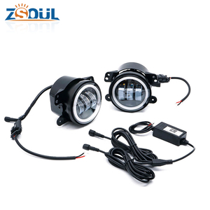 "Hot sale 30W Bluetooth Control RGB Color Halo Rings 4 inch led fog lamps driving light 4"" led fog light for Jeep Wrangler TJ JK"