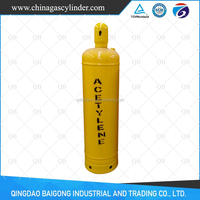Low Pressure 40L Capacity FOB QINGDAO Acetylene Gas Cylinder Price