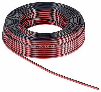 18 Gauge Kawat Speaker Tembaga Berpakaian Merah Hitam Zip Kabel 12 ...