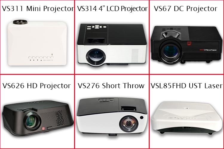 2019 ใหม่ล่าสุด 6.7 นิ้ว LCD LED Native 1080 P, Real Full HD โปรเจคเตอร์ 4000 ลูเมนสำหรับโฮมเธียเตอร์