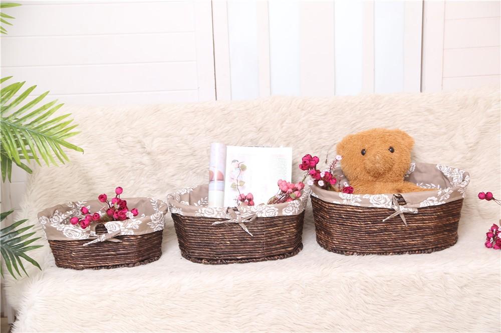 Baby Gift Baskets Empty : Felt woven empty gift basket for baby toys buy corn husk