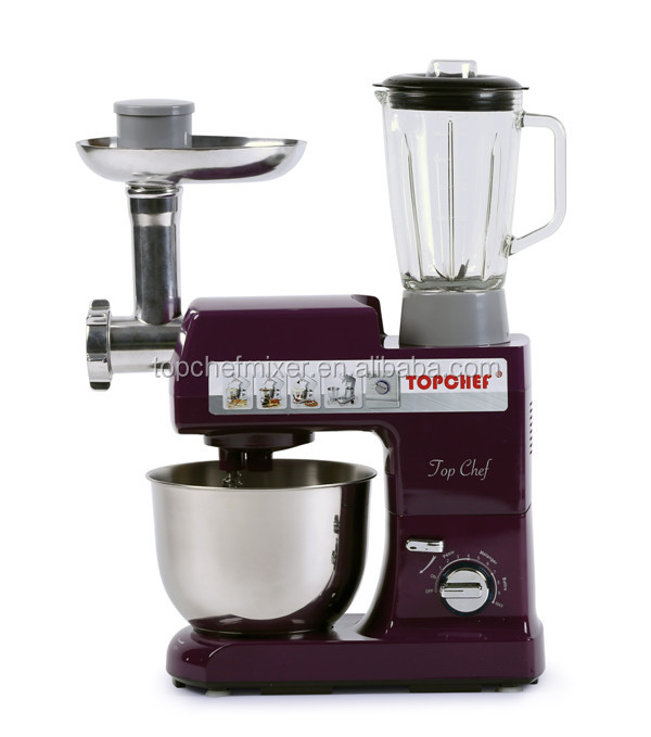 Professional multifunction stand mixer with 10 speed control