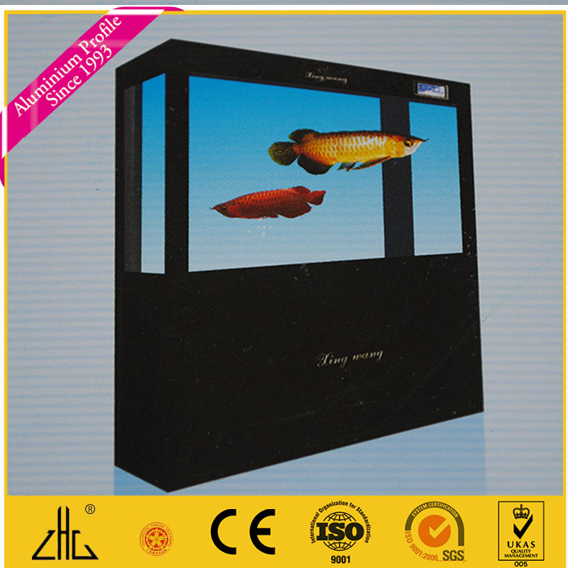 Extruded colorful anodized aluminium extrusion fish tank frame , aluminium sections for fish tank making