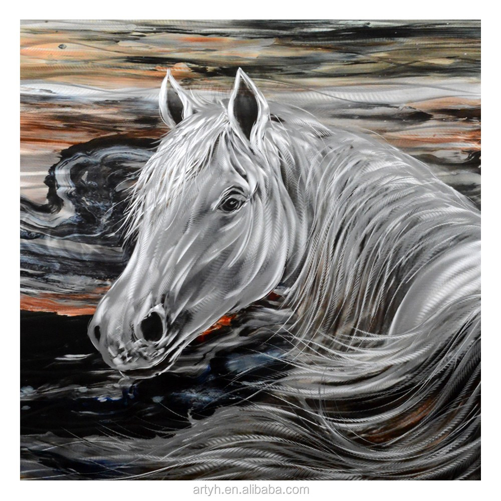 Newest Horse Large Metal Wall Art View Large Metal Wall Art Yihui Arts Product Details From Nanan Yihui Painting Arts Fty Co Ltd On Alibaba Com