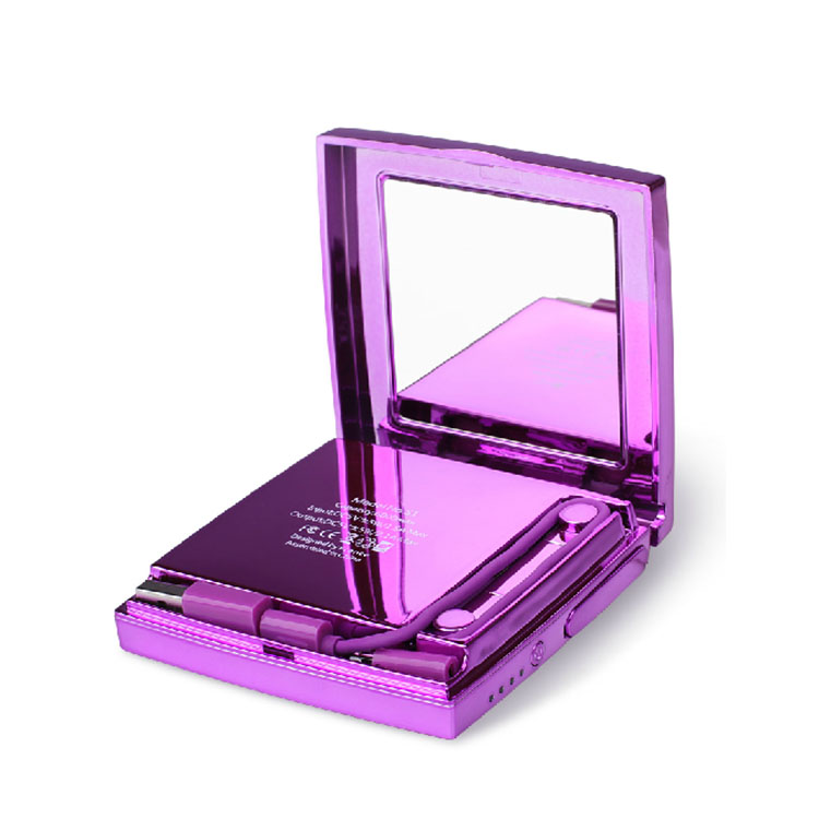 High quality metal case make up mirror power bank 6000mah
