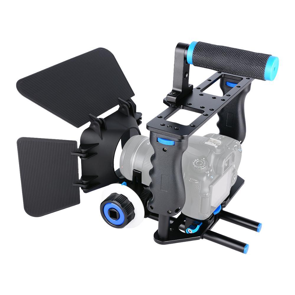 YELANGU Sıcak Satış El DSLR Video Kamera Kafesi Kiti C200 Profesyonel Filme Ekipmanları Güneşlik Kutusu