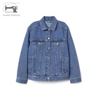 Hot wholesale blue denim jean ladies jacket slim women suppliers