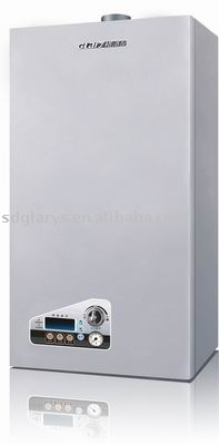 wall-hung gas boiler with safety device