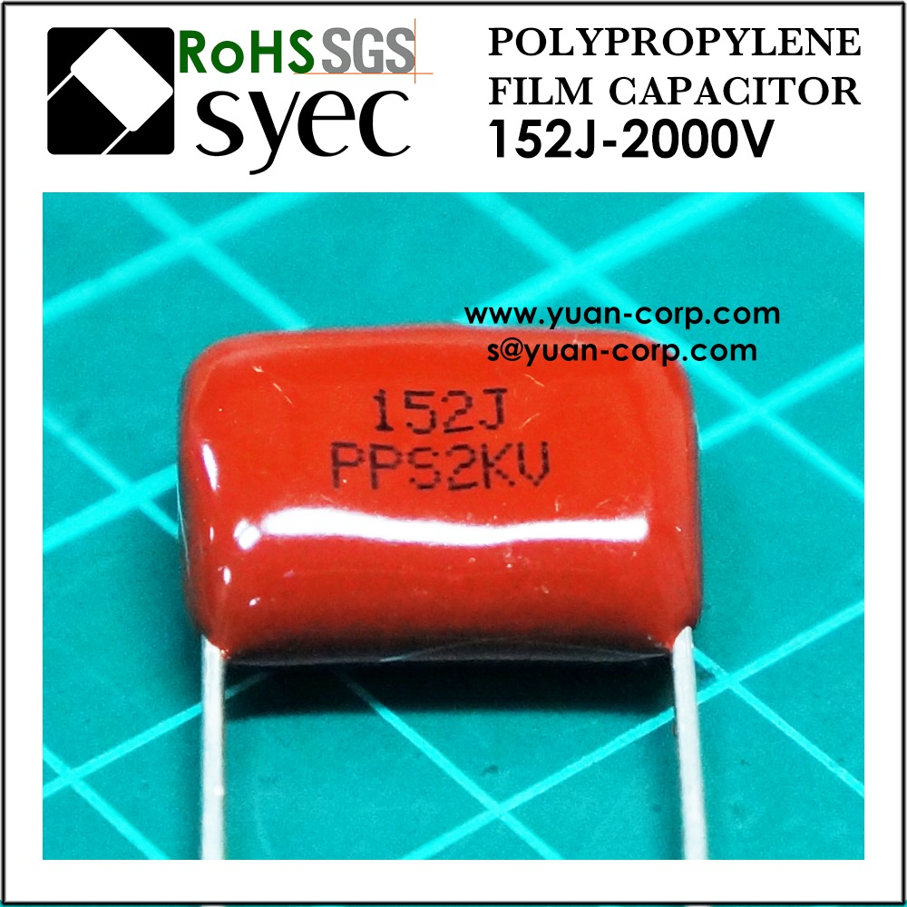 High Voltage 152J 2KV Polypropylene Film Capacitor