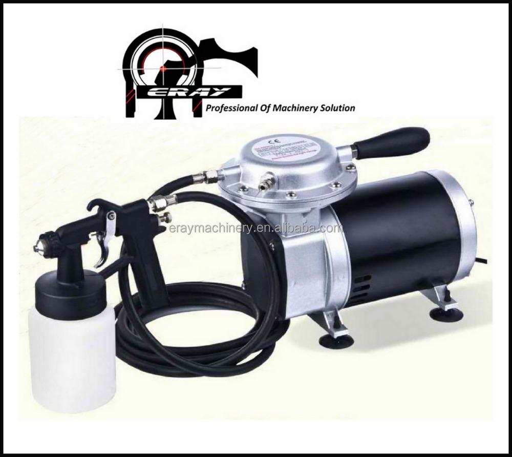 Rociador de pintura port til con compresor de aire y hlvp - Pistola de pintura sin compresor ...