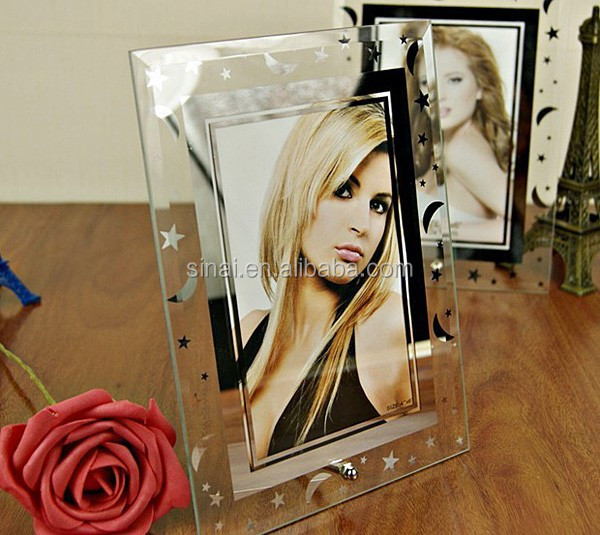 Popular Sell Well Wedding Frame / Gift Decoration Glass Photo Frame