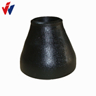 "Concentric Reducer Steel Pipe 3/4"" ANSI B16.9 A234 WPB Black Painting Concentric Reducer SCH40 Carbon Steel Pipe Fittings"
