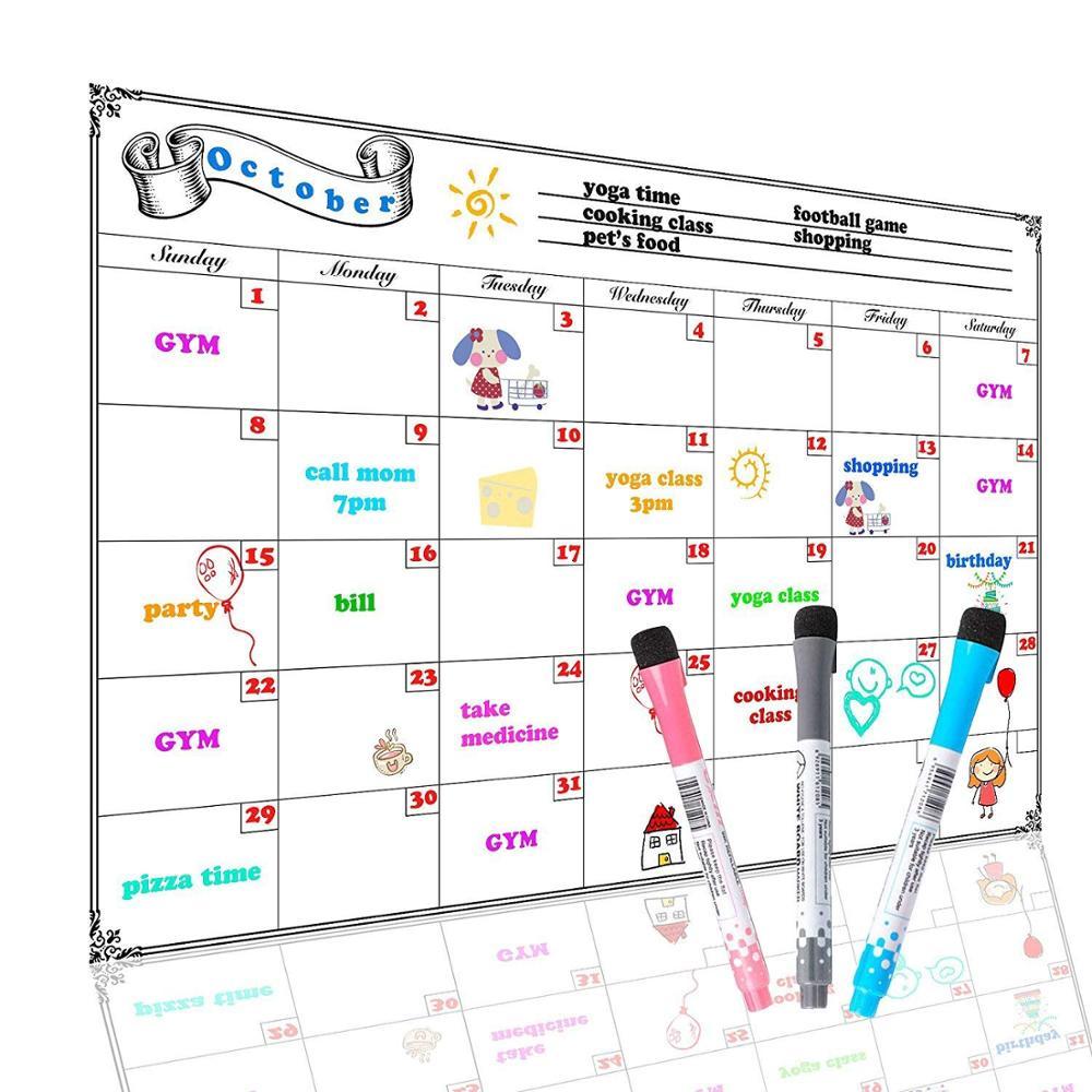 Magnetic Whiteboard Calendar Dry Erase Whiteboard Planner Whiteboard