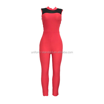 iGift 2018 Wholesale Latest Plus Size Red Catsuit For Women Sexy Catsuit Latex