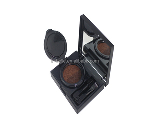 professional fashion makeup waterproof 2 color air cushion eyebrow with mirror
