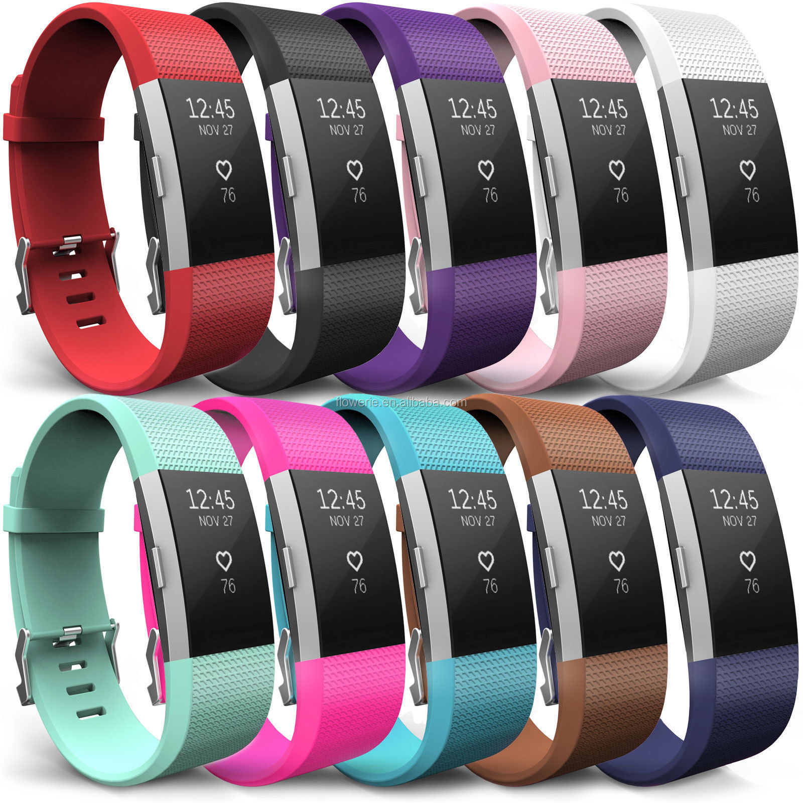 Amazon Hot Selling Soft Silicone Sport Watch Strap Band Replacement For  Fitbit Charge 2,Strap For Fitbit Charge 2 Watch Band - Buy Strap For Fitbit