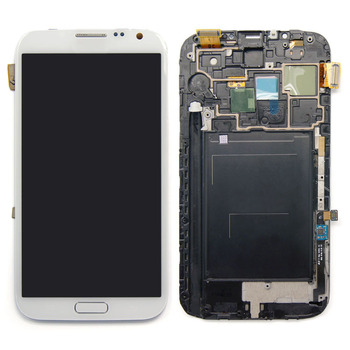 For Samsung Galaxy Note 2 n7105 lcd with digitizer repair parts color in white