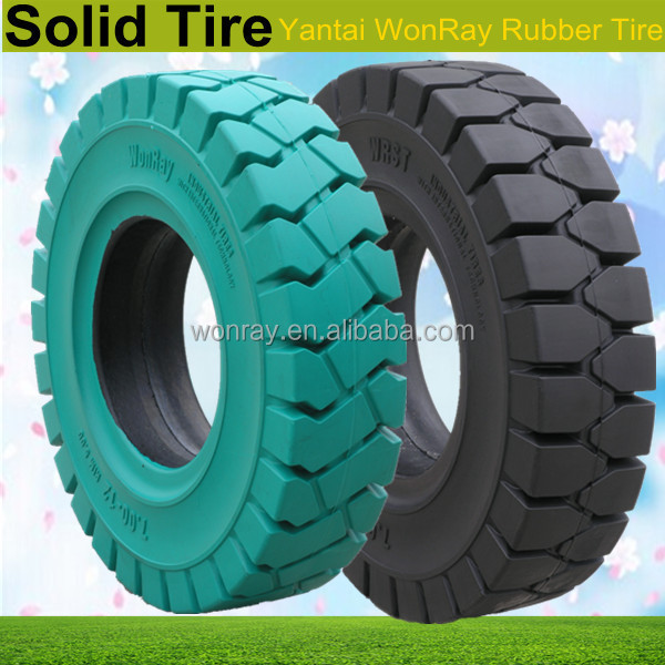 solid tire 5.70-8, Industrial solid forklift tire 27x10-12