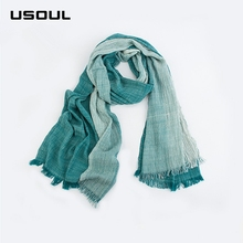 2017 New Fashion Ladies Spring and Autumn Art Mori Girl Style Cotton Scarf Folding