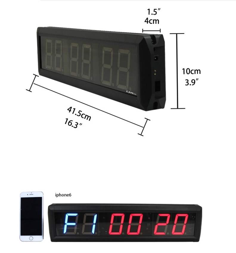 Ganxin Single Face Display Led Clock Timer Gym Multi-Functional