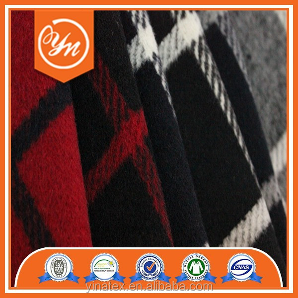 made in china branded cheap palid flannel wool tweed fabric