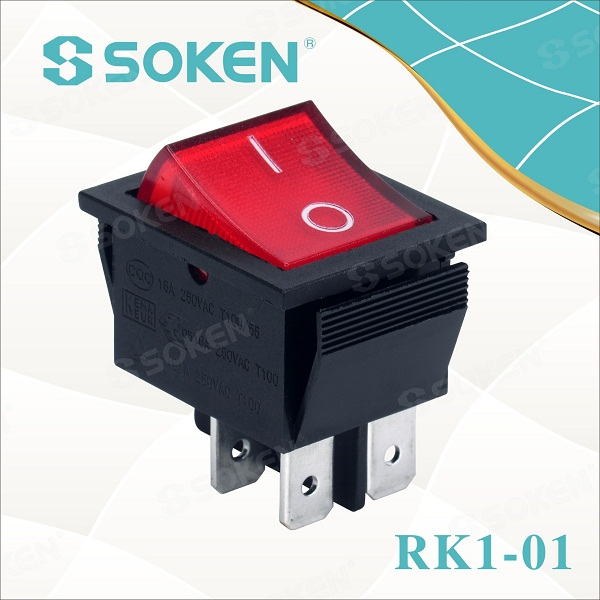 Kippschalter Beleuchteter Schalter ON//OFF//ON