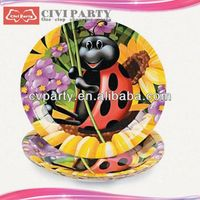 best service Birthday Party Theme Plates happy birthday cards cartoon printed party paper plate