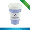 eco friendly fashion disposable custom logo printed paper coffee cups with lid